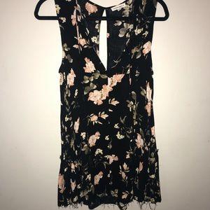Black floral dress!!
